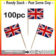 British United Kingdom Flag Mini Picks Toothpicks Pencungkil Gigi Bend