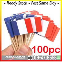 France Flag Mini Toothpicks Pencungkil Gigi Bendera.Cafe Restoran Fren