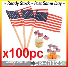 USA America Flag Mini Picks Toothpicks Pencungkil Gigi Bendera.Cafe Re