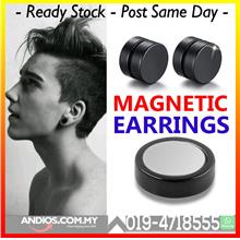 Round Magnetic Clip Stud Earrings Men No Piercing Ear 8mm 10mm Jewelry