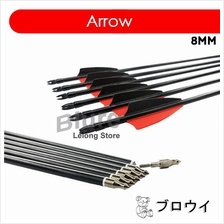 12pcs 30' Fiberglass Arrows 500 Spine 8mm Shaft Archery