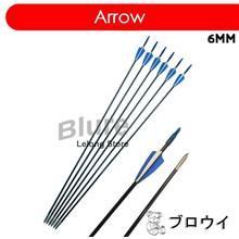 12pcs Fiberglass 6mm Arrow Sharp Tips Archery