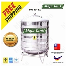 MAJU STAINLESS STEEL TANK VERTICAL ROUND BOTTOM WITH 'V' STAND