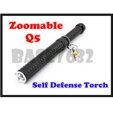 Zoomable Self Defense Q5 Led Torch Light Defence Flashlight  Baseball
