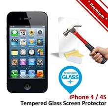 Premium Protection Apple iPhone 4 4S Tempered Glass Screen Protector