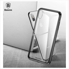 APPLE IPHONE X XS MAX XR Baseus Clear See Through Tempered Glass Case