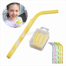 Silicone Folding Drinking Straw Reusable Food-Grade Travel Portable