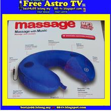 Bantal urut leher U Neck Massage Pillow MP3 Speaker Travel Massager cc