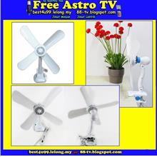 Portable Mini AC Table Clip Fan 4 Blades kipas klip HJ-590A Clip On ss