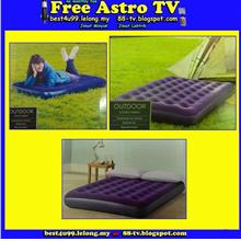 Single Double Inflatable Mattress Airbed air Pump Tilam angin katil s