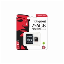 KINGSTON 256GB TF HC10 CANVAS SELECT MEMORY CARD WITH ADAPTER (80MB/S) (SDCS/2