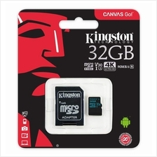 KINGSTON 32GB TF HC10 CANVAS REACT MEMORY CARD WITH ADAPTER (100MB/S) (SDCR/32