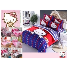 PROMO!!!HELLO KITTY High Quality Queen Size Fitted Bedsheet Set