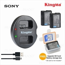 ORIGINAL Kingma Dual Battery Charger wt 1080mAh 2pcs NP-FW50 for Sony