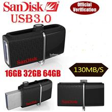 (ORIGINAL) SanDisk Ultra Dual USB 3.0 OTG FLASH Drive 16GB 32GB 64GB