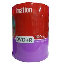 IMATION DVD+R MEDIA DISC 100PCS SPINDLE 4.7GB 16X