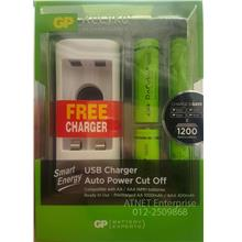 GP RECYKO+ RECHARGEABLE BATTERY WITH USB CHARGER