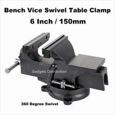 6 inch 6' 150mm Mechanic Bench Vice Swivel Base Table Clamp