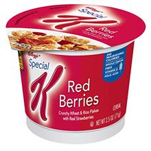 Special K Kelloggs, Breakfast Cereal in a Cup, Red Berries, Bulk Size,