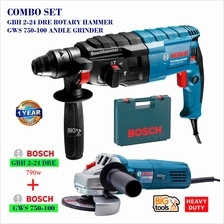 BOSCH COMBO SET GBH 2-24 DRE ROTARY HAMMER WITH SDS-PLUS + GWS 750-100
