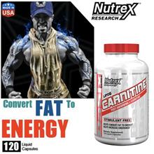 LIPO-6 Carnitine, 120 Liquid Caps (Whey, Amino, Protein, Energy) USA