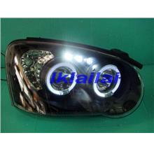 IMPREZA `03-05 GDB Projector Head Lamp With Ring [Black Housing]