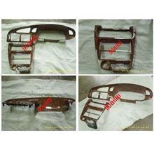 Wira Dashboard Meter Panel & Double Din Casing [Wood]