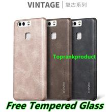 Huawei Ascend P9 / Lite Plus Leather Case Cover Casing +Tempered Glass