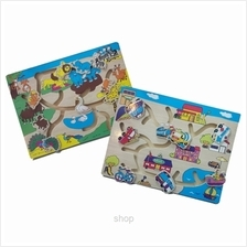 GeNz Kids Maze Board x2 (Animals  & Transport) - 1014)