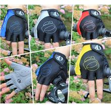 Bicycle shock absorbing gloves