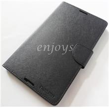 ORI MERCURY Fancy Diary Book Case Cover Lenovo Tab 2 A8-50 ~ALL BLACK