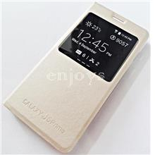 GOLD S View Flip Cover Case Samsung Galaxy J5 Prime (5.0) *XPD