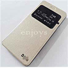 Premium GOLD S View Flip Cover Soft Case Wiko Highway Pure /4G ~4.8
