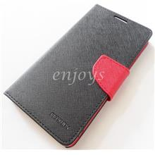 MERCURY Fancy Diary Book Case Flip Cover Lenovo S90 Sisley ~BLACK *XPD