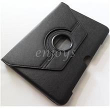 Rotate Carbon Leather Pouch Case Samsung Galaxy Note 10.1 N8000 ~BLACK