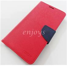 MERCURY Fancy Diary Book Case Flip Cover Pouch Lenovo S856 ~RED *XPD