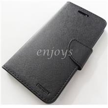 MERCURY Fancy Diary Flip Case Book Cover for Oppo R7s ~ALL BLACK *XPD