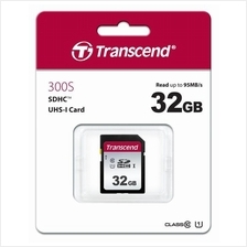TRANSCEND 32GB SD HC10 300S UHS-1 (95MB/40MB) MEMORY CARD (TS32GSDC300S)