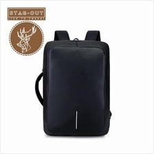 [Stag-Out] Anti-Theft Dual Function Waterproof Laptop Backpack