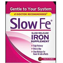 Slow Fe, High Potency Iron 45 mg, Slow Release - 60 Tablets - Pack of 2