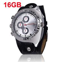 Real Leather Band 16GB Waterproof Watch Camera (WCH-11C16GB).