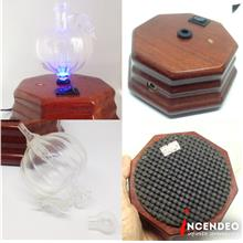 **incendeo** - Wood and Glass Aromatherapy Diffuser with Light