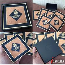 **incendeo** - Vintage ASIA COMMERCIAL FINANCE Collectible Coaster Set