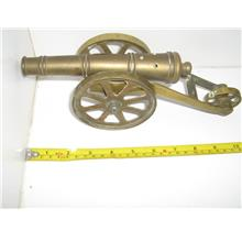 Antique Vintage SOLID BRASS 3-WHEEL Battle CANNON MODEL