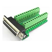 Parallel Port Header DB25 Female to Terminal Block Adapter
