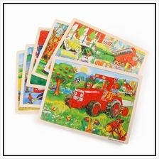 Wooden Educational STEM Toys Story Puzzle