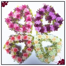 Artificial Flower Heart-shaped Garland Wedding Venue Decoration