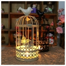 Groceries Large Bird Cage Candlestick Wrought Iron Ornaments Creative