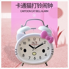 New Creative Cartoon Cat Light Bell Alarm Clock