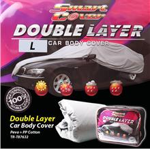 Smart Cover Double Layer Car Body Cover - L-Size 100% Waterproof